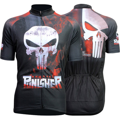 Skull Cycling Jersey Bicycle Clothing Short Sleeve Quick Dry Polyester Sportwear for Men