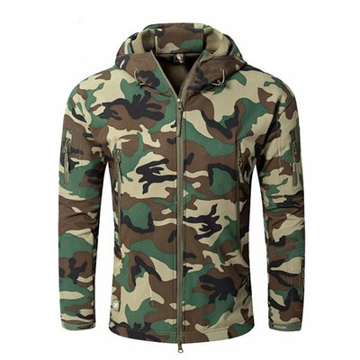 Men's Army Military Camouflage Fleece Jacket Tactical Clothing Autumn
