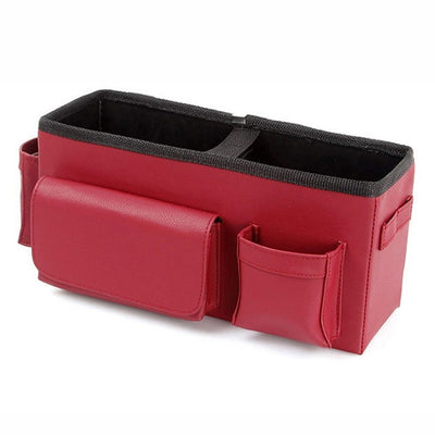 Car Backseat Storage Box Leather Portable Hanging Trunk Organizer Car Interior Accessories