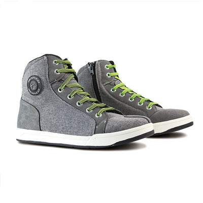 Men adventure motorcycle shoes gray casual breathable flax sport boots