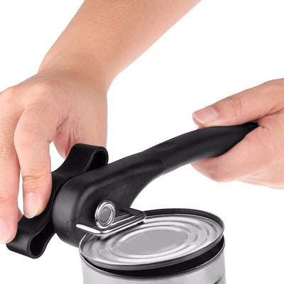 Can opener handheld metal effortless with turn knob easy kitchen tools