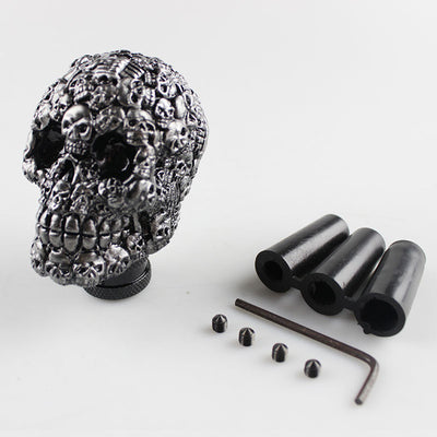 Universal skull head shift knob car gear stick shifter knob car interior accessories