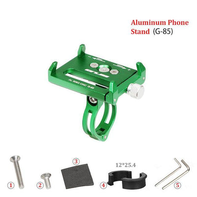 Bike Phone Stand Adjustable For 3.5-6.2inch Bicycle Handlebar Holder Aluminum