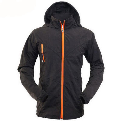 Outdoor sport hooded jacket for men trekking camping hiking clothes