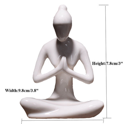 Art ceramic yoga poses home yoga studio decor ornament