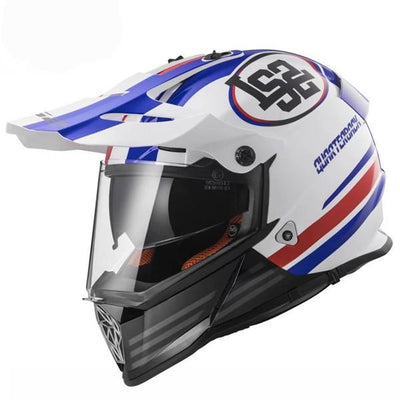 Full face motorcycle helmets off road motocross helmet racing double lens