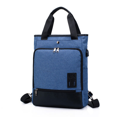 Canvas Laptop Backpack USB Charging Business Travel bag