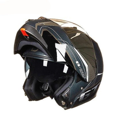 vintage full face motorcycle helmets flip up open helmets dual visors ECE