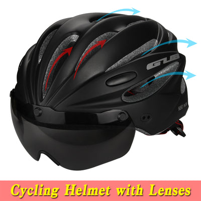 Glasses Bicycle Helmets Cycling Helmet Goggles Integrally-molded MTB Road racing Bike