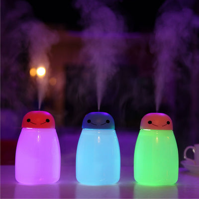 USB Ultrasonic humidifier aroma oil essential with night light mist maker fogger