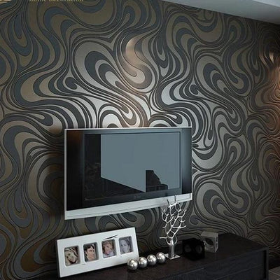 modern wallpaper vintage 3d roll flocking striped wall home decor mural papel