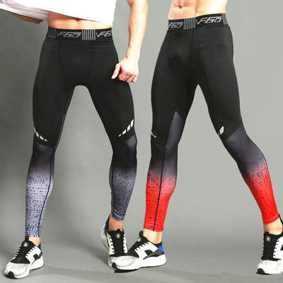 Yoga pants men sportswear running tights long trousers fitness gym