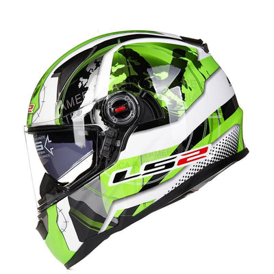 full face motorcycle helmet racing fiberglass with sun shield airbag