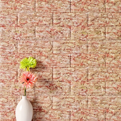 3D brick wallpaper wall stickers diy self adhesive foam waterproof living room home decor