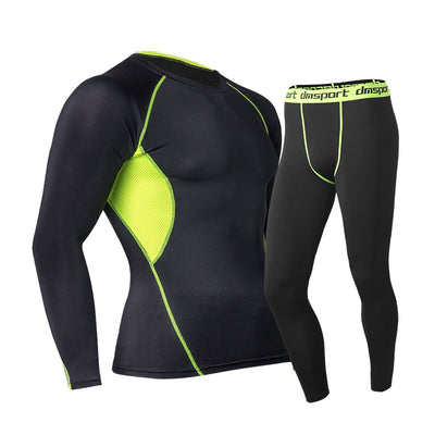 Thermal underwear sets for men warm long shirt pants clothes