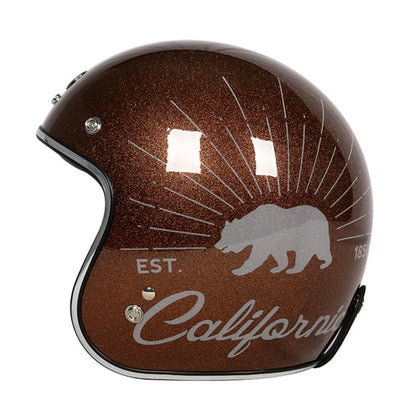 Harley motorcycle helmet retro open face moto casco sparkle DOT approved