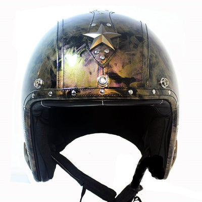 Cruiser helmet scooter motorcycle helmets vintage 3/4 open face chopper ghost rider