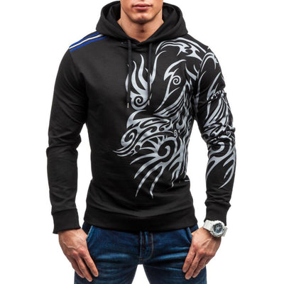 Men's hoodies sweatshirt dragon printed casual tracksuit hip hop clothing