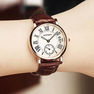 Leather women wristwatch dress watch analog vintage watches casual for gifts
