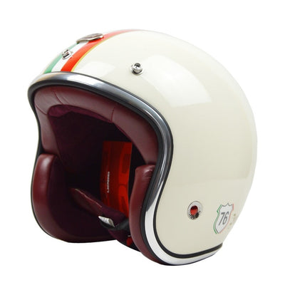 vintage motorcycle helmets retro scooter helmet jet 3/4 open face racing road