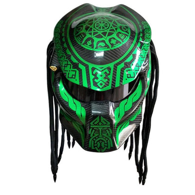 predator full face motorcycle helmet painting helmets red laser light night racing