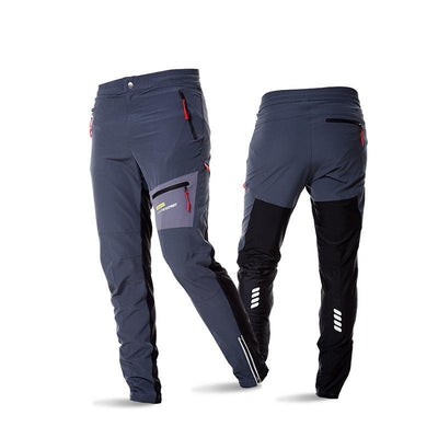 Bicycle pants men cycling long pants breathable soft elastic waist safety