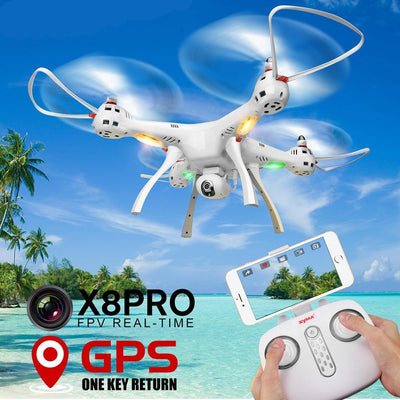 X8 Pro GPS RC Drone Camera FPV Altitude Hold Selfie Helicopter Drone Quadcopter