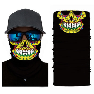 skull mask face hood tube neck headband scarf ski motorcycle outdoor halloween