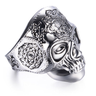 Mehndi buddism ring for men stainless steel