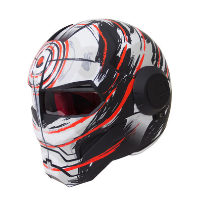 Retro vintage motorcycle helmets hero man full face