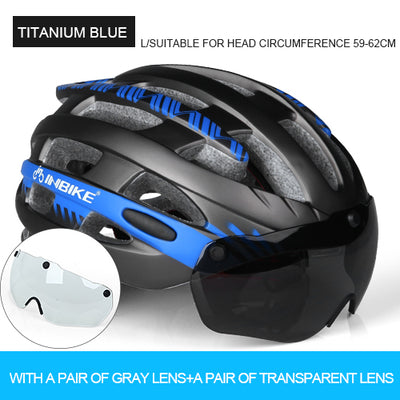 Glasses Bicycle Helmets Cycling Helmet Mountain Road MTB Sports Casco Ciclismo