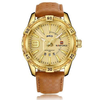 Men wristwatch business leather watch display sport relogio masculino