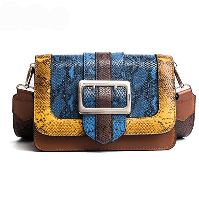 Luxury leather messenger bags woman shoulder bags snakeskin pattern designer