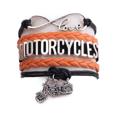 Motorcycles leather bracelet sport love motorbike charm bangles for women