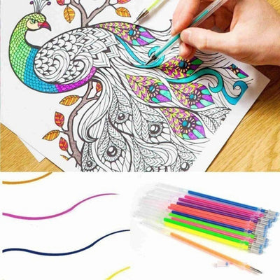 Painting gel pen refills watercolor brush colorfull DIY card decor fluorescent party