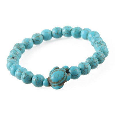 Stone beads bracelet tortoise pendant for women men bangles jewelry gift