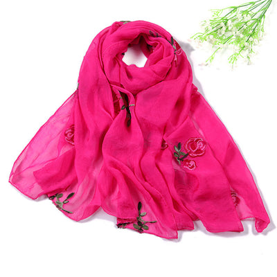 women scarf silk floral scarves shawls and wraps spring summer beach