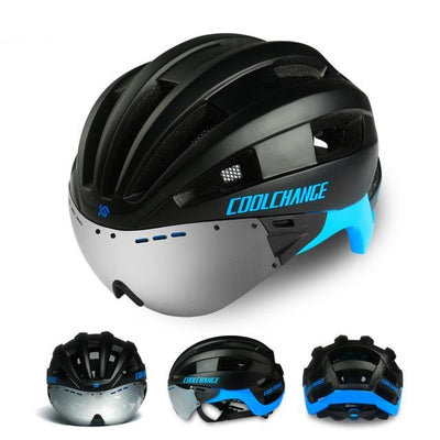 Glasses Bicycle Helmets Cycling Helmet MTB Bike Lenses Integrally-molded Sports