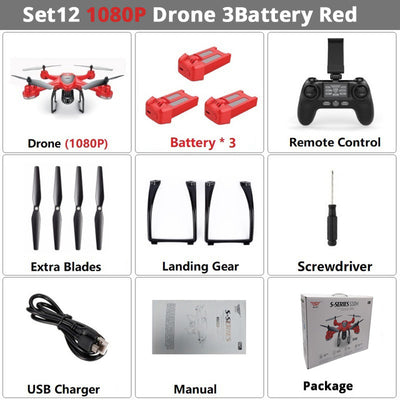 Dual GPS RC Drone Camera FPV RC Helicopter  Quadcopter Follow Me One Key Return