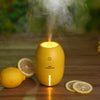 Mini lemon USB portable ultrasonic humidifier air purifier mist maker for home office car LED light