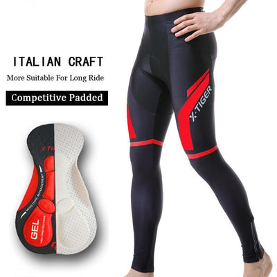 Bicycle pants biker outfit with 5D gel pad tights bicycle clothing trousers