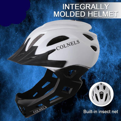 Kids bicycle helmet full face cycling helmets visor detachable children safety