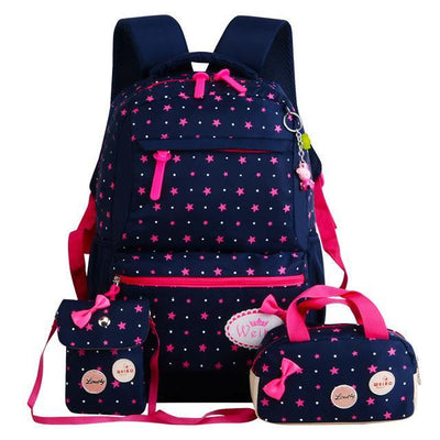 Backpack kid children rucksacks for girls star printing design