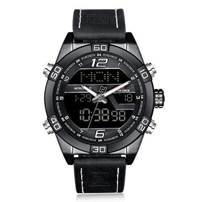 Men wristwatch leather digital sport watches outdoor clock relogio masculino