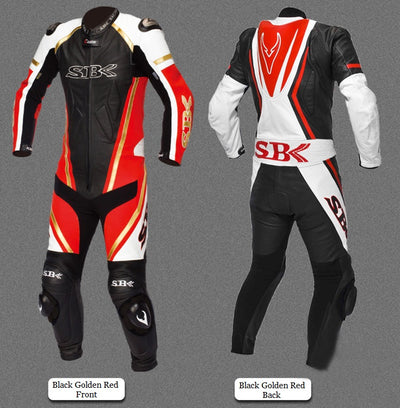 Leather Motorcycle Racing Suit Biker Knights for Men