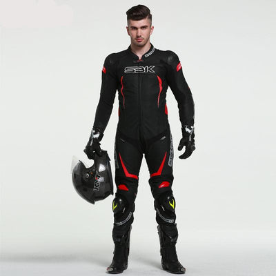 Leather Motorcycle Racing Suit Biker Knight One Pieces