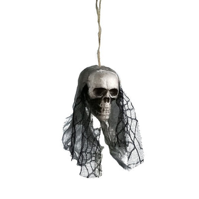 Halloween decor DIY skull bride head hanging funny party festival