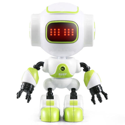Mini Smart Robot Toy RC Touch Control DIY Gesture Voiced Alloy Robot For Children Kids Birthday Gifts