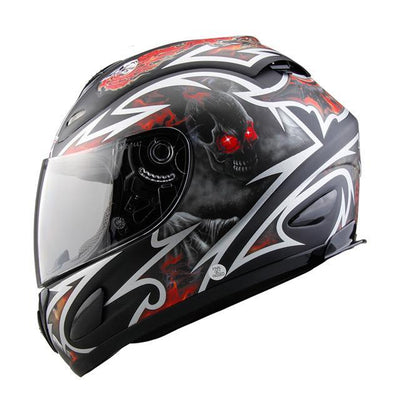 Cruiser full face motorcycle helmets chopper street bike racing clear lens