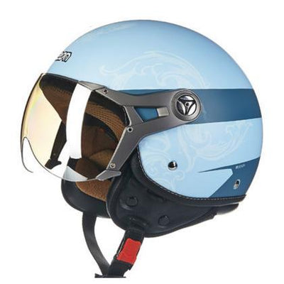 Scooter motorcycle helmet vintage retro vespa harley chopper